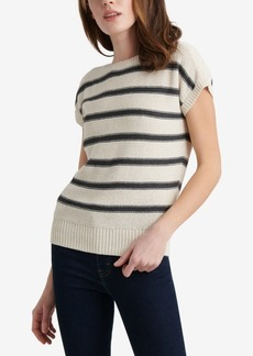 Lucky Brand Striped Short Sleeve Pullover Sweater