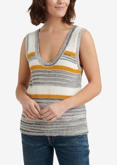 Lucky Brand Striped Sweater Tank Top