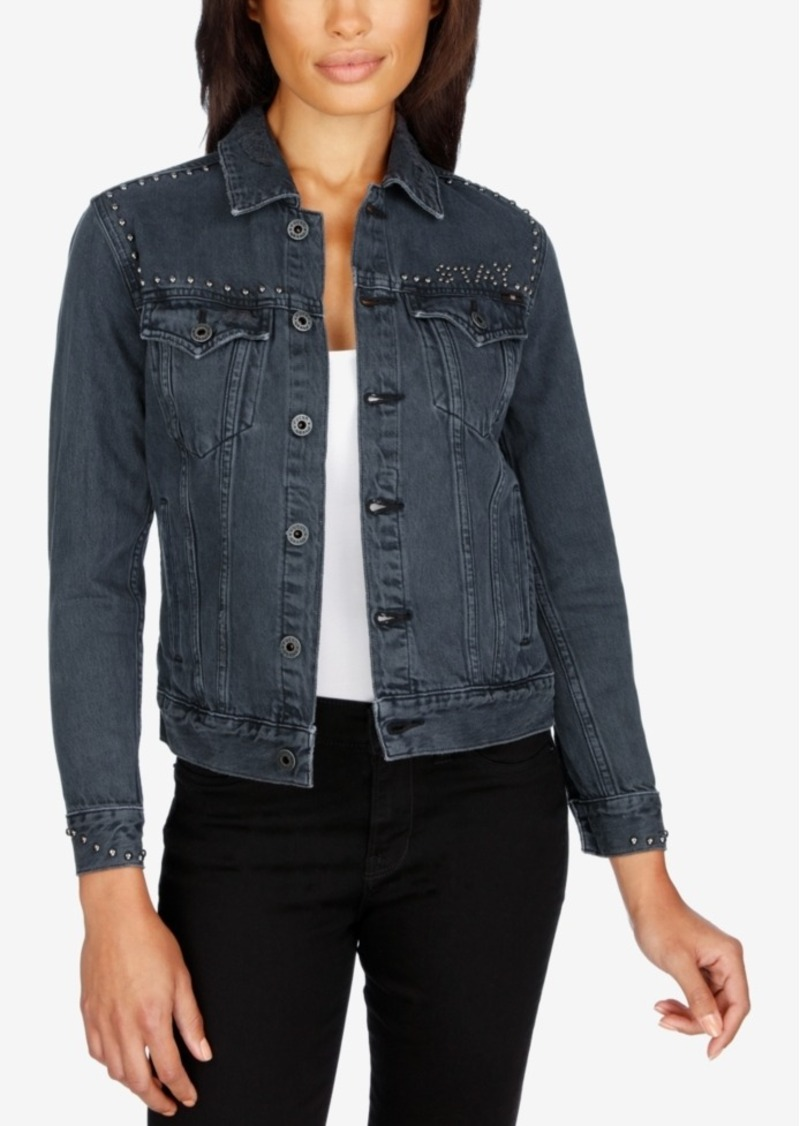 Lucky Brand Studded Denim Jacket