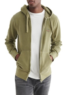 Lucky Brand Sueded Terry Zip Hoodie