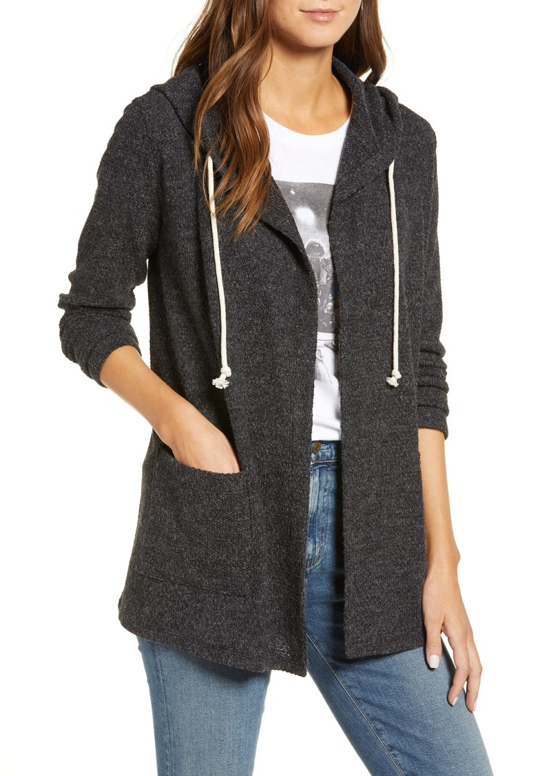 Lucky Brand Swit Heathered Hooded Cardigan