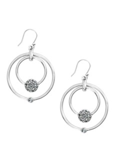 Lucky Brand Talisman Trends Silvertone Pavé Orbital Drop Earrings
