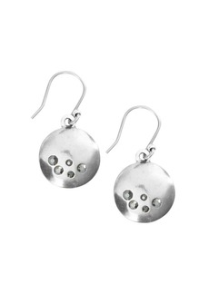 Lucky Brand Talisman Trends Silvertone Studded Disc Drop Earrings
