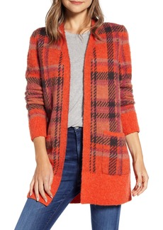 Lucky Brand Tartan Plaid Cardigan
