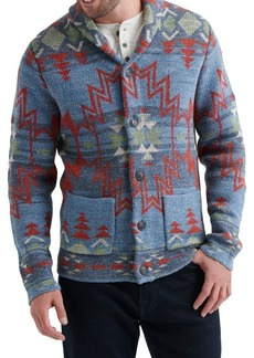 Lucky Brand Textured Jacquard Cardigan