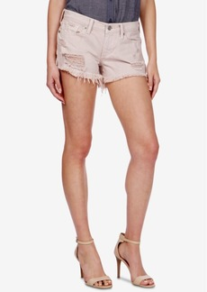Lucky Brand The Cut Off Ripped Cotton Denim Shorts