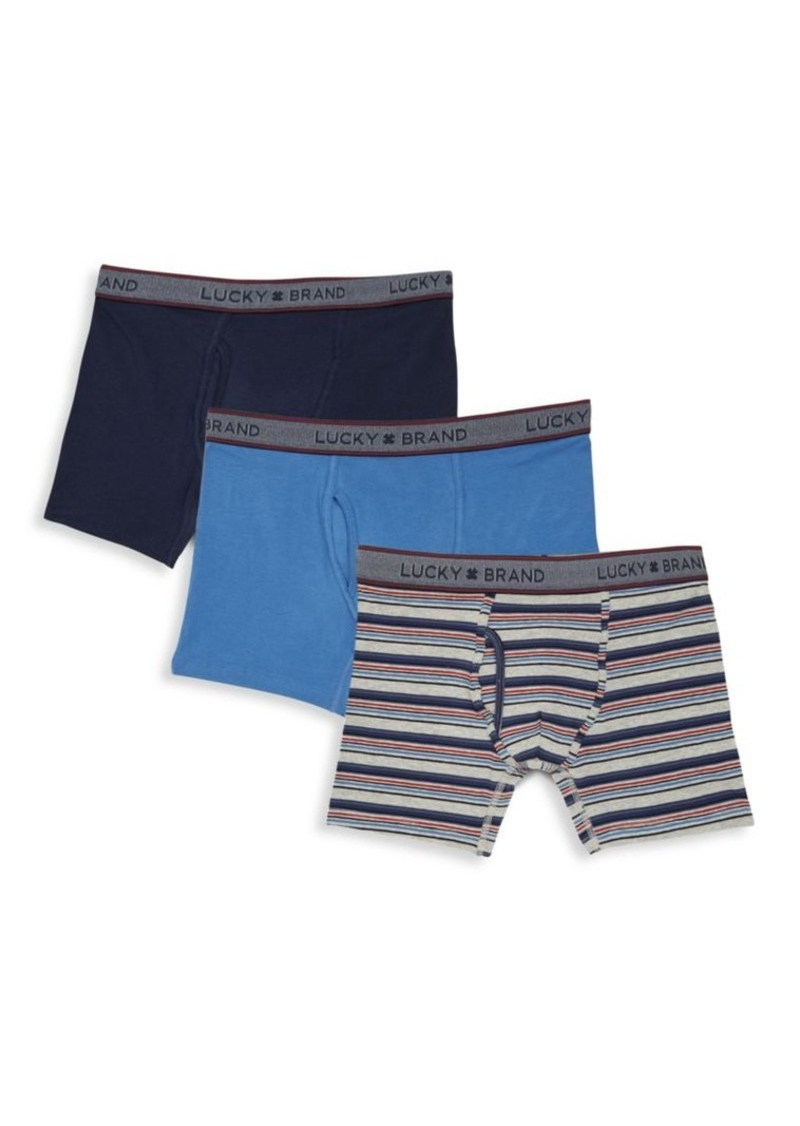 Lucky Brand Three-Piece Boxer Briefs Set