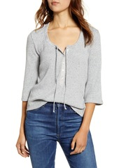 Lucky Brand Three-Quarter Sleeve Thermal Top