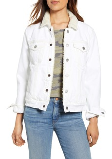 Lucky Brand Tomboy Fleece Collar Trucker Jacket