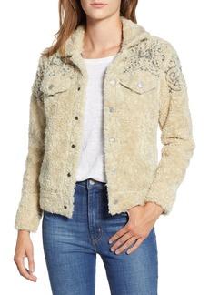 Lucky Brand Tomboy Fleece Trucker Jacket