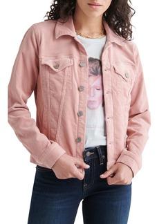 Lucky Brand Tomboy Stretch Cotton Corduroy Trucker Jacket
