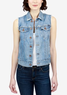 Lucky Brand Tomboy Trucker Cotton Denim Vest