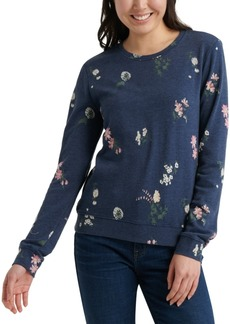 Lucky Brand Tossed Floral Sweatshirt
