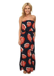 Lucky Brand Tossed Leaf Maxi Dress
