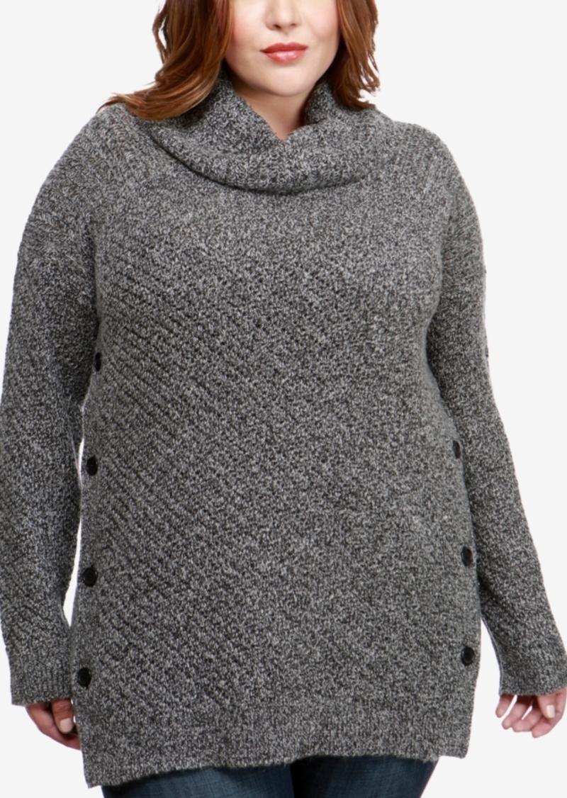 85d6efd1454 Lucky Brand Lucky Brand Trendy Plus Size Alyssa Cowl-Neck Sweater ...