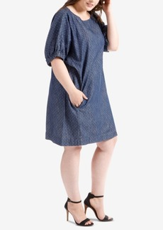 Lucky Brand Trendy Plus Size Chambray Dress