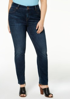 Lucky Brand Trendy Plus Size Cotton Emma Straight-Leg Jeans