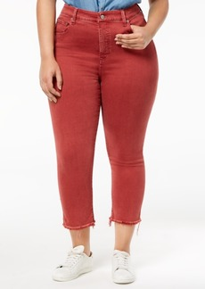 Lucky Brand Trendy Plus Size Cropped Skinny Jeans