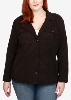 Lucky Brand Trendy Plus Size Cropped Utility Jacket