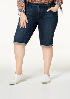 Lucky Brand Trendy Plus Size Cuffed Denim Shorts