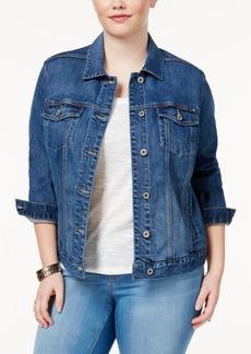 Lucky Brand Trendy Plus Size Denim Trucker Jacket