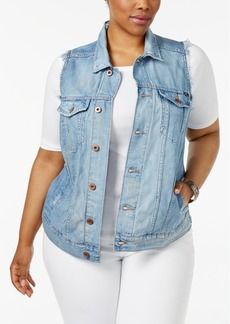 Lucky Brand Trendy Plus Size Denim Trucker Vest