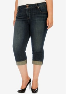 Lucky Brand Trendy Plus Size Emma Abyss-Wash Cropped Jeans