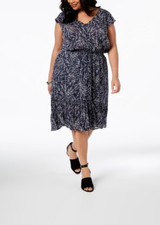 Lucky Brand Trendy Plus Size Floral-Print A-Line Dress
