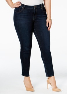 Lucky Brand Trendy Plus Size Ginger Navy Wash Skinny Jeans