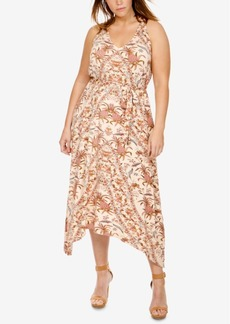 Lucky Brand Trendy Plus Size Handkerchief-Hem Dress