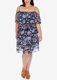 Lucky Brand Trendy Plus Size Off-The-Shoulder Peasant Dress