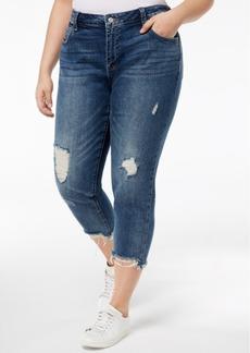 Lucky Brand Trendy Plus Size Ripped Boyfriend Jeans