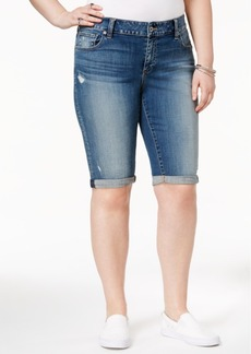 Lucky Brand Trendy Plus Size Tamarac Wash Bermuda Shorts