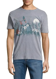 Lucky Brand Tropical Graphic Print Tee