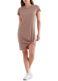 Lucky Brand Twist Front Cotton & Modal T-Shirt Dress