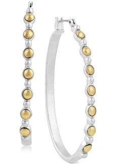 """Lucky Brand Two-Tone 1-3/4"""" Hoop Earrings"""