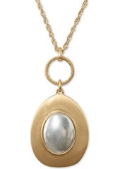 """Lucky Brand Two-Tone Champagne Imitation Mother-of-Pearl Pendant Necklace, 30"""" + 2"""" extender"""