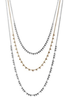 """Lucky Brand Two-Tone Layered Strand Necklace, 22"""" + 2"""" extender"""