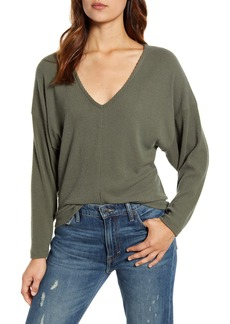 Lucky Brand V-Neck Rib Top