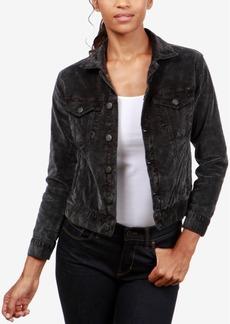 Lucky Brand Velvet Tomboy Trucker Jacket
