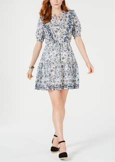 Lucky Brand Victoria Printed Ruffle Dress