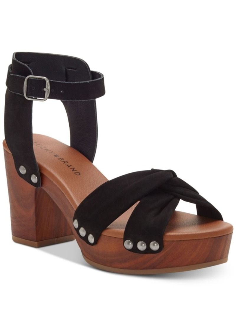 Lucky Brand Whitneigh Wooden Platform Sandals Women's Shoes