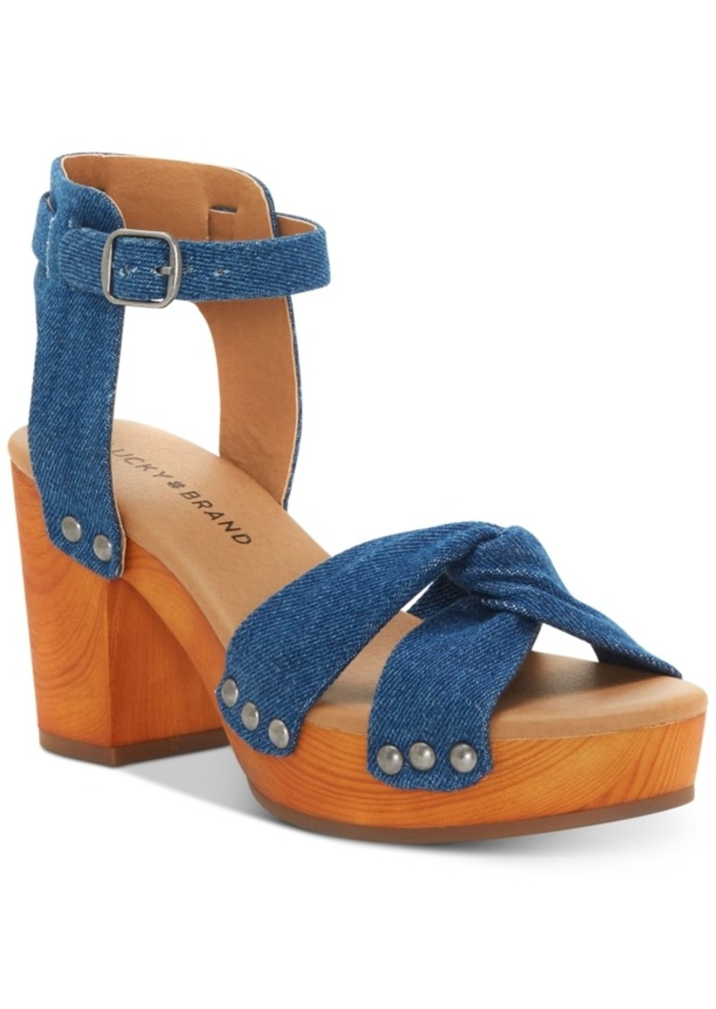 Whitneigh Wooden Platform Sandals Womens Shoes