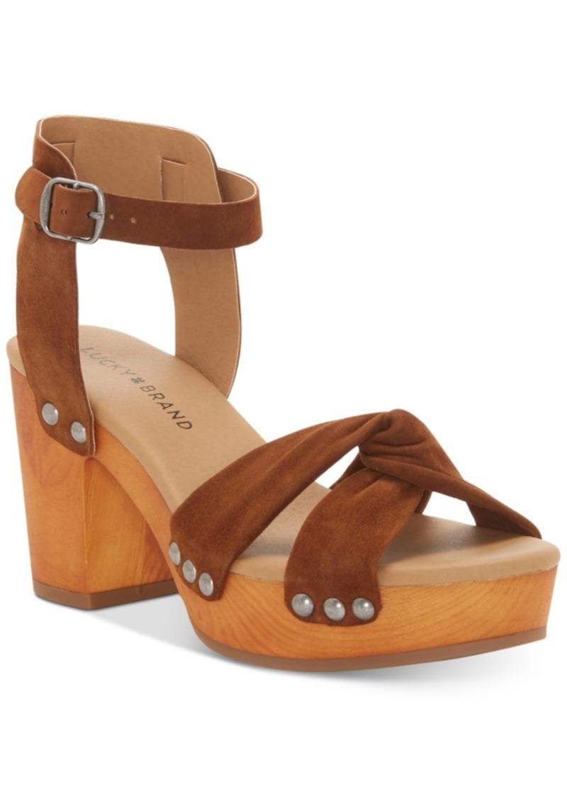 862fd0e5178 Lucky Brand Lucky Brand Whitneigh Wooden Platform Sandals Women s ...