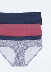 Lucky Brand Women's 3 Pack Hipster Panties