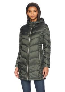 Lucky Brand Women's 3/4 Lightweight Packable Down Coat with Cinch Detail  MED