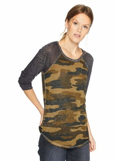 Lucky Brand Women's 3/4 Sleeve CAMO TEE  XL