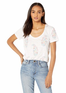 Lucky Brand Women's All Over Paisley Floral TEE  M