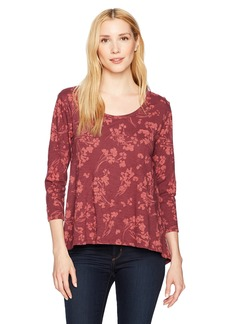 Lucky Brand Women's All Over Print Tee  XS