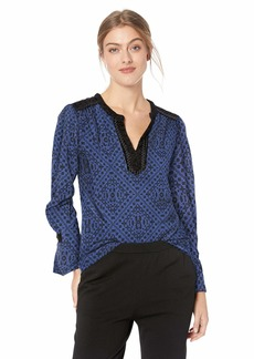 Lucky Brand Women's Allover Printed TOP  XS